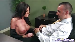 Jaclyn Taylor gets fucked deeply in the throat after sucking a massive cock