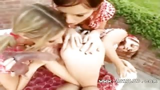 trio girl4girl loves asshole toying