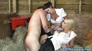 Victoria summers loves CFNM threeway fun