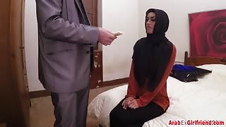 Arab Ex Girlfriend Talked Into Banging In Hotel Room