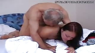 Old Granpa fucks a young beautiful girl