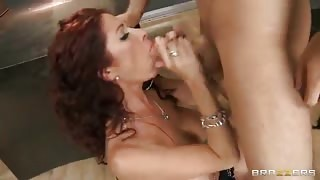 Redhead Girl Tiffany Gives Head & Fucks Boner