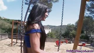 Babe athina fucked in public playground and jizzed with