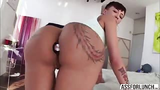 Damn hot Bella goes hardcore anal sex with her hunk guy Mike