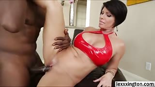 Shay Fox gets fucked by a big black cock and gets her face covered with cum