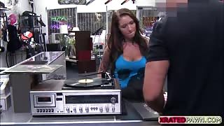 Horny woman gets fucked hardcore by the pawnshop owner