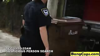 Suspicious black dudes always get fucked by horny officers