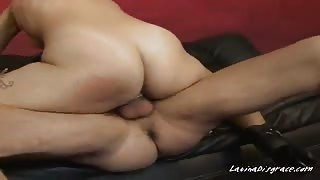 Latina Business Woman Autumn Foxx Sits On Clients Big Cock