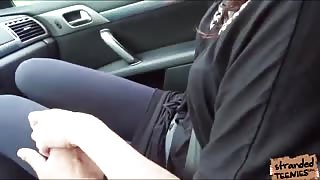 Wanderer Nikki Sweet is seduced to have sex by a pervy driver
