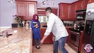 Brunette Muslim teen Ada fills her pussy with warm jizz from a jew