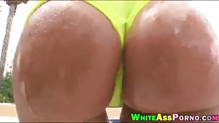 Big butt brunette ho Angelica Saige pounded outdoors