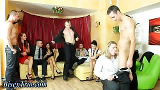 Bi curious dude fucked hard with strapon