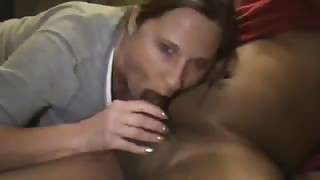 Proud MILF Worships Huge Black Hard-On