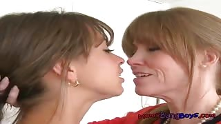 Stepmom Darla Teaches Stepdaughter  Riley Lovers Delight