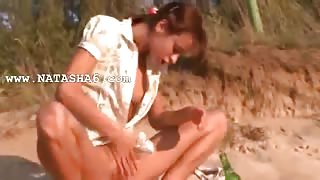 neat natasha teen naked on the beach