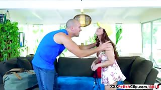Guy next door gets fuck in doggystyle for Diamond Foxxx