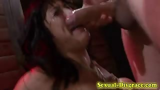 Throated bound asian sub fingered