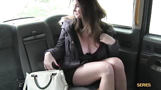 Busty babe Tasha Holz rides and sucks a big cock in the car