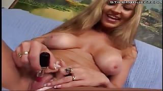 dirty blonde milf sucks and fucks on the couch and takes cum