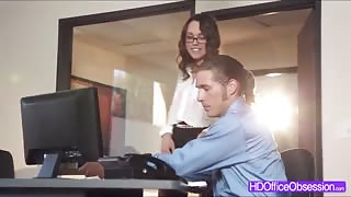 Watch Horny babe Jade Nile seducing her boss and gets fucked hard