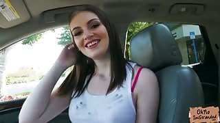 Sexy Maya Kendricks fucks a random stranger in the car