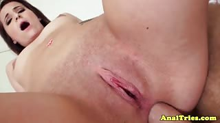 Assfucking girlfriend fingered and fucked