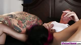 Horny hottie babe Joanna Angel with a hungry twat