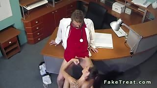 Doctor fucks sexy tattooed patient