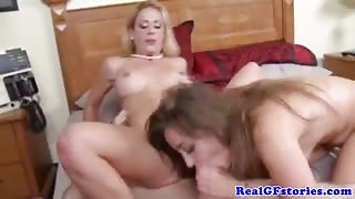 Bigtit gfs fuck and suck the same cock