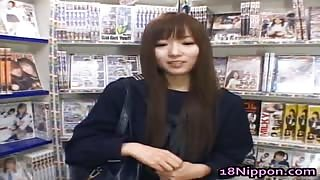 Horny Japanese Chick Interviewed By  Needy Dude