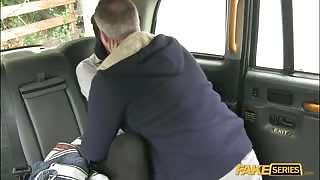 Hunk Driver gets so lucky with lovely skinny Alessa