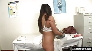 Adriana Luna is a sexy Latina with curves. Her big natural boobs swing
