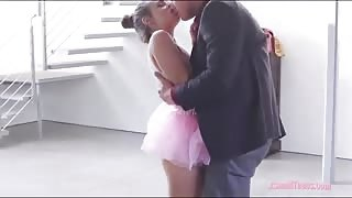 Ballerina cutie Cassidy Klein deepthroats and fucked hard