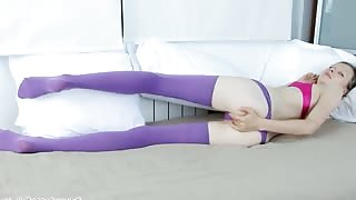 Amazing purple stocking