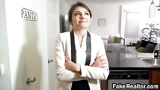 Young fake realtor Adria Rae seduces guy with hot blowjob and gets pussy smashed