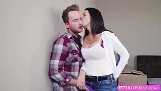 MILF Reagan Foxx gets her wet pussy banged by her stepson