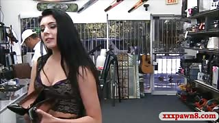Small tits babe banged by nasty pawn guy at the pawnshop