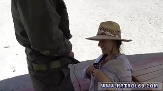 Cop face fuck Sweet dark haired Paisley Parker was detained by
