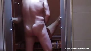 Mature lady squirting like crazy while her husband fucks her
