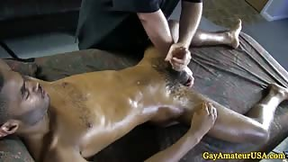 Straight guys cumload after gay handjob