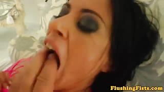 Cecilia Vega gaping ass toy rammed
