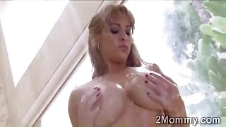 Gorgeous big tits cougar fucks stepdaughters lucky bf