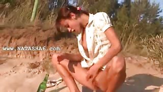 luxury natasha teen naked on the beach