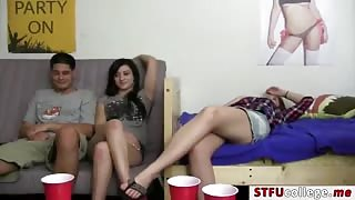 A fun cock search as hot coeds streaks through dorm rooms