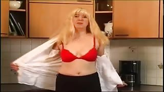 Lovely Blonde Milf Masturbates Beaver With Hands And Sex-Toy