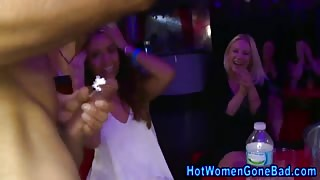 Cfnm cock sucking party with dirty bitches