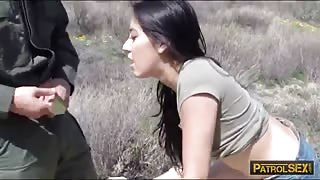 Slim latina Kimberly Gates banged by border patrol agent