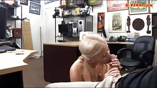 Busty stripper pawns her twat and fucked at the pawnshop