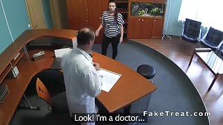 Fake doctor fucks patient at reception