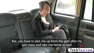 Busty passenger fucked by nasty driver for a free fare